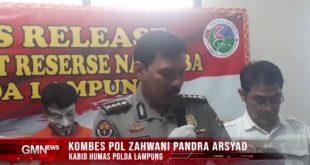Ditresnarkoba Polda Lampung Sukses Bekuk Jaringan Narkoba
