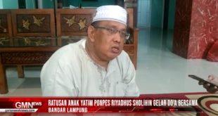 Ratusan Anak Yatim Ponpes Riyadhus Sholihin Gelar Doa Bersama