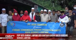 FKPP Kota Bandar Lampung Beri Bantuan Korban Banjir Bandang