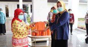 Jum'at Barokah, Riana Arinal Beri Bantuan untuk Tenaga Medis Puskesmas
