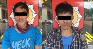 Polsek Buay Bahuga Amankan Dua Pelaku Pembawa Sabu Diamankan