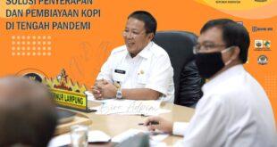Gubernur Arinal Jadi Keynote Speaker pada Webinar Pengembangan Kopi Lampung
