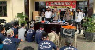 Polres Lampung Utara Berhasil Ungkap 38 Kasus Tindak Pidana dan Amankan 30 Orang Pelaku