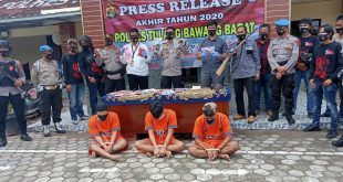 Setahun, Polres Gulung 369 TSK Pelanggar Hukum di Tubaba