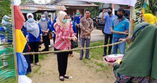 Ketua GOW Kabupaten Melawi Sambangi Desa Baru
