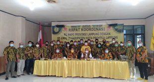 Rapat Koordinasi, Ketua AMPG Provinsi Lampung Beri Bantuan Seragam ke Pengurus