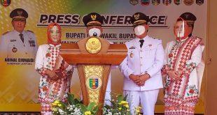 H. Dawam Rahardjo Dan H. Azwar Hadi M.Si Resmi Dilantik  Menjabat Bupati dan Wakil Bupati Lampung Timur