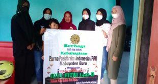 Jelang Hari Raya Idul Fitri 1442 Hijriah, PPI Kabupaten Buru Bagikan Sembako