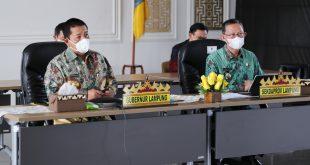 Rakor dengan Menkop UKM dan Ketua KPK, Gubernur Arinal Siap Implementasikan Aplikasi Belanja Langsung untuk Cegah Korupsi Pengadaan