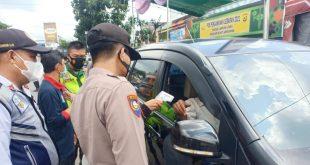 Polres Lampura Lakukan Pemeriksaan Kendaraan Arus Balik