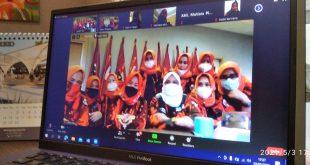 Kumpul Bareng se-Indonesia, DPW Srikandi Lampung Buka Puasa Via Zoom Meeting
