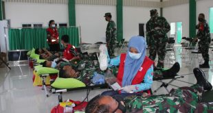 Korem 043/Gatam, Adakan Gerakan Donor Darah 1000 Kantong