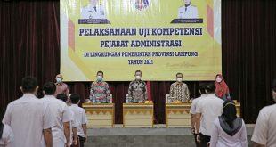 Uji Kompetensi Pejabat Administrasi,Gubernur Arinal Minta ASN Jaga Amanah dan Terus Tingkatkan Kompetensi
