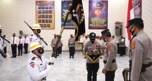 Jelang Hari Bhayangkara 1 Juli, Polda Lampung Gelar Upacara Pencucian Pataka