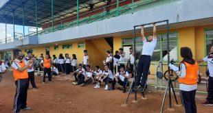 Polres Lampung Utara Gelar Ujian Kesamaptaan Jasmani dan Beladiri Polri Berkala Periode II Tahun 2021