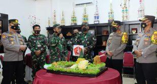 HUT TNI ke-76, Jajaran Polres Lampung Utara Dengan Datangi Mako TNI